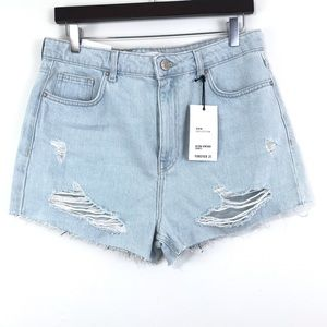 Forever 21 High Rise Jean Shorts 30